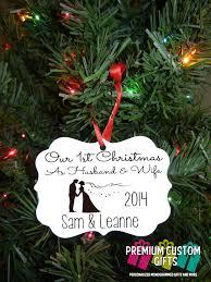 our first christmas ornament wedding gift christmas gift