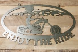 metal cut out motorcycle custom personalized chopper garage zoom