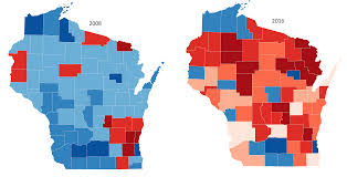 Wisconsin Gis Maps by Wisconsin Election Results By County 2008 2016 Vivid Maps