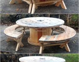 Palet Patio Table Modern Pallet Patio Furniture Beautiful Round Wood Patio