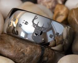 country wedding rings deer wedding rings spininc rings