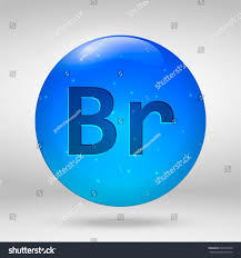 Bromine Periodic Table Bromine Element Periodic Table Vector 3d Stock Vector 697479478