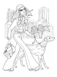 fashionable girls coloring pages 9 fashionable girls kids
