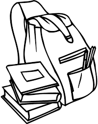 Coloring Page Of A Backpack And Books For Preschoolers Coloring Books For Coloring