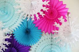 tissue paper fans birthday decorations tissue paper fans snowflakes winter