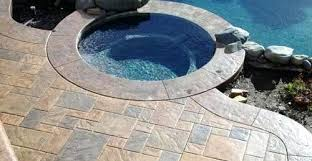 pebble deck coating pool deck tropical pool epoxy pebble deck