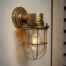 Outdoor Brass Lights Wall Mounted Ship S Light In Antiqued Brass Ranch Remodel