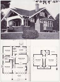 house plans 1920s bungalow style house floor plans garages with
