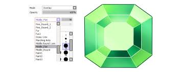 how to create a set of vibrant gem icons in paint tool sai
