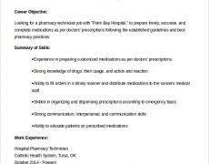 Example Of Pharmacy Technician Resume Technician Resume 19 Chic Inspiration For Pharmacy 6 Example