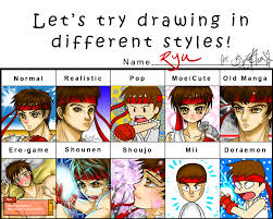 Fighter Meme - pixiv style meme ryu street fighter by drawn with passion on