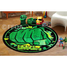 Green Kids Rug Hulk Smash Kids Children Rug Carpet 100 Cm X 100 Cm For Kids