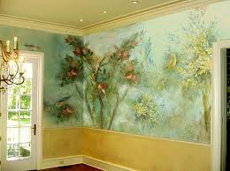 house interior walls decorated with painted wall smural