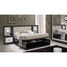 chambre laque noir chambre à coucher kristel en noir blanc ou noir blanc laqué