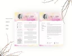 Resume Sample Format Docx by Water Color Resume Template Cv Cover Letter By Showy68template