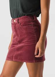 corduroy skirt afends womens chevy corduroy skirt