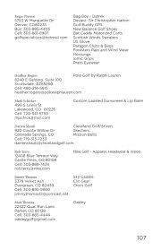 2014 colorado pga member directory june update by colorado pga