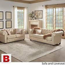 Tufted Chesterfield Sofa by Beige Fabric Button Tufted Chesterfield Sofa And Room Set Karachi