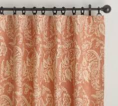 Orange Patterned Curtains Draperies U0026 Patterned Curtains Pottery Barn