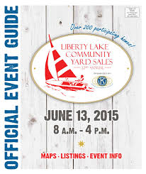 Zip Code Map Spokane by 2015 Liberty Lake Community Yard Sales Official Event Guide By The