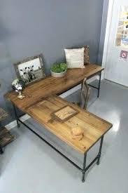 rustic l shaped desk rustic l shaped desk rustic l shaped desk live edge slab desk rustic
