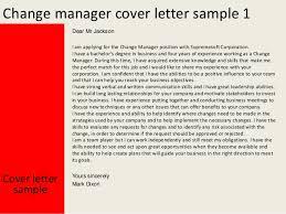change management cover letter 28 images 10 best images of