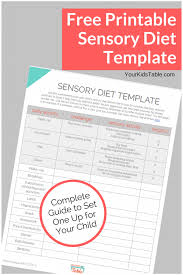 easy to use sensory diet template with a free pdf your kid u0027s table