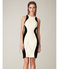 fitted dresses lm by mignon 2014 dresses white black two tone open
