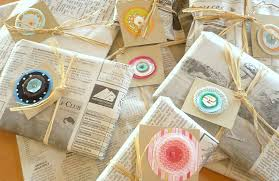 newspaper wrapping paper turn newspapers into creative gift packaging