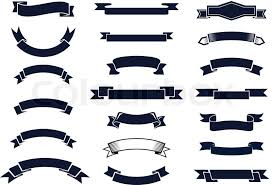 vintage ribbon large set of blank classic vintage ribbon banners for design