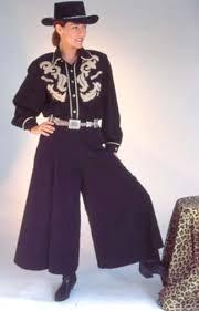 western style long black gaucho western women gauchos western