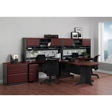 Wood File Cabinets For The Home by Altra Furniture Pursuit Cherry And Gray File Cabinet 9523196 The