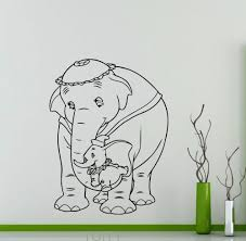 online get cheap jumbo wall murals aliexpress com alibaba group dumbo flying elephant wall sticker cartoons mrs jumbo vinyl decal home kids girl boy nursery room interior decor removable mural
