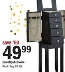 jewelry armoire 49 99 at meijer thanksgiving on black friday