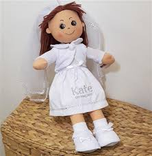 gifts for communion personalised holy communion rag doll communion doll