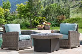 Oriflamme Sahara Fire Table by Northcape Patio Furniture Bainbridge Club Chairs And Fire Pit
