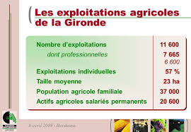 chambre agriculture gironde l agriculture girondine principaux repères l agriculture girondine