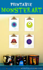 Monsters University Halloween by While They Snooze Printable Monster Art