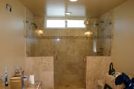 Glass Shower Cabin Partition Walls With Black Handle White Wall Bathroom Stylish Bathrooms With Frameless Glass Shower Doors