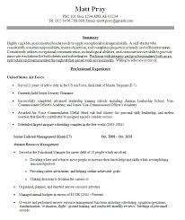 Army To Civilian Resume Examples by Military Resume Example Military Resume Example