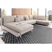 canapé d angle tissu beige canapé d angle panoramique avec méridienne fixe à gauche ou à droite