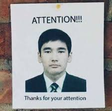 Attention Meme - thanks for you attention meme xyz