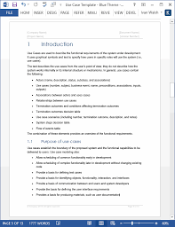 use case template ms word u0026 visio templates