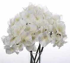 Fake Hydrangeas White Artificial Hydrangea Bouquet Picks And Stems Floral