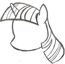 my little pony sketch twilight sparkle u0027s head by ancientowl on