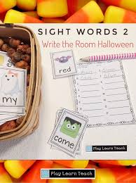 Room Dolch Word Games - sight words write the room halloween pre primer sight words
