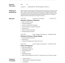resume sle for doctors functional resume format for doctor templates template free photos