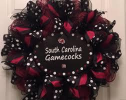 geo mesh wreath gamecock wreath etsy
