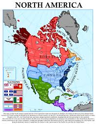 America Map by French North America Map Complete Version By Canadakid97 On