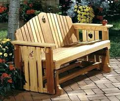 Garden Rocking Bench Free Glider Bench Plans Wooden Garden Glider Furniture Gardening